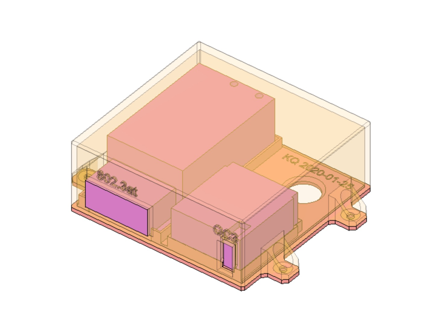 picture of assembled components, colored